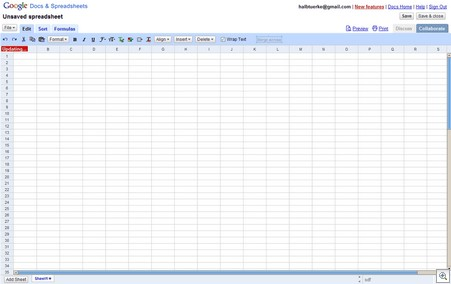 Google-spreadsheets